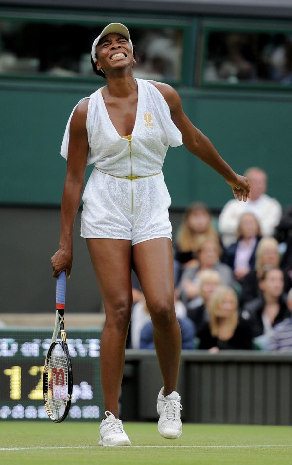 Venus Williams at Wimbledon in 2011.