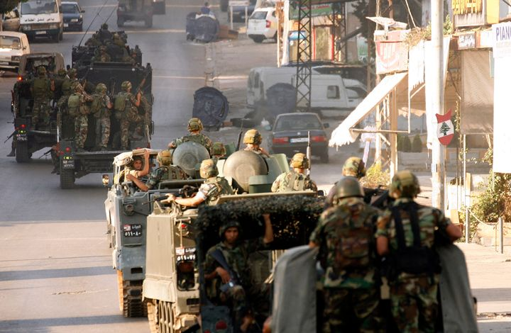 The Lebanese army deployed in the southern town of Abra on June 18, 2013, after they heard shooting by gunmen loyal to anti-H