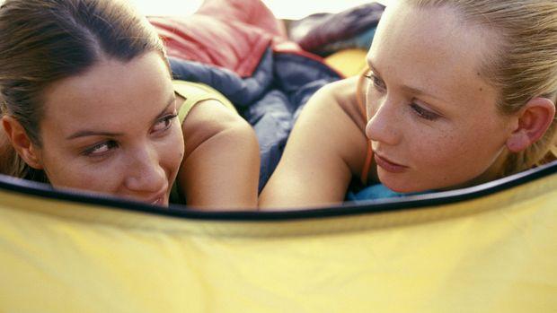 Women in tent