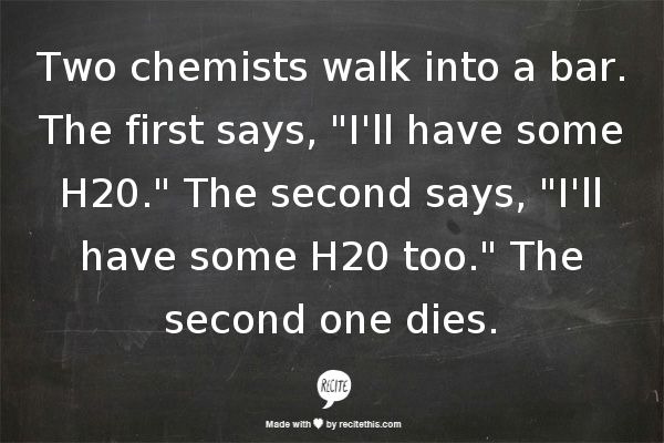 Sexy chemistry jokes