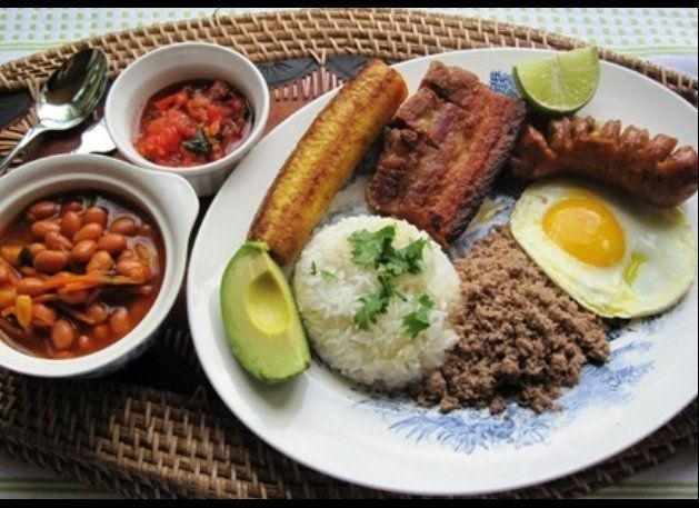 "This ""Paisa"" Tray is served steaming hot for lunch all over Colombia but originates from the northwestern Department of Antio"