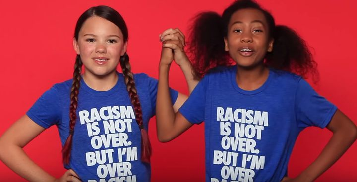 Kids speak out against the Confederate flag in video for t-shirt company.