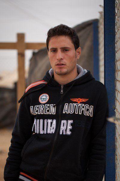 "Mohammad ""Abu Qasem"" Qusam Ghouzlan is a trainer at the Za'atari circus school."