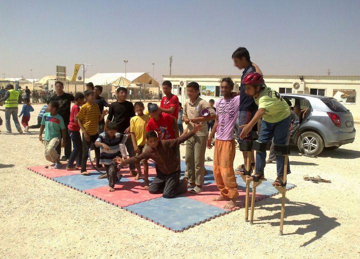 More participants in the Za'atari circus school.