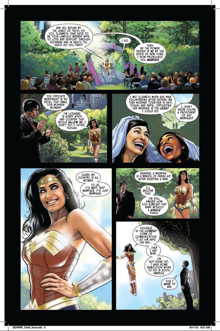 Wonder Woman Officiates Her First Gay Wedding Huffpost