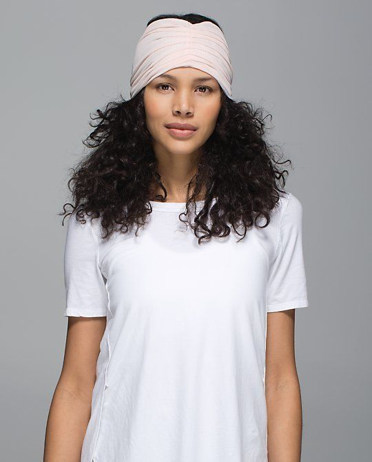 """LululemonSweat To Sweet Headwrap, $24;<a href=""""http://shop.lululemon.com/products/clothes-accessories/women-headb"""