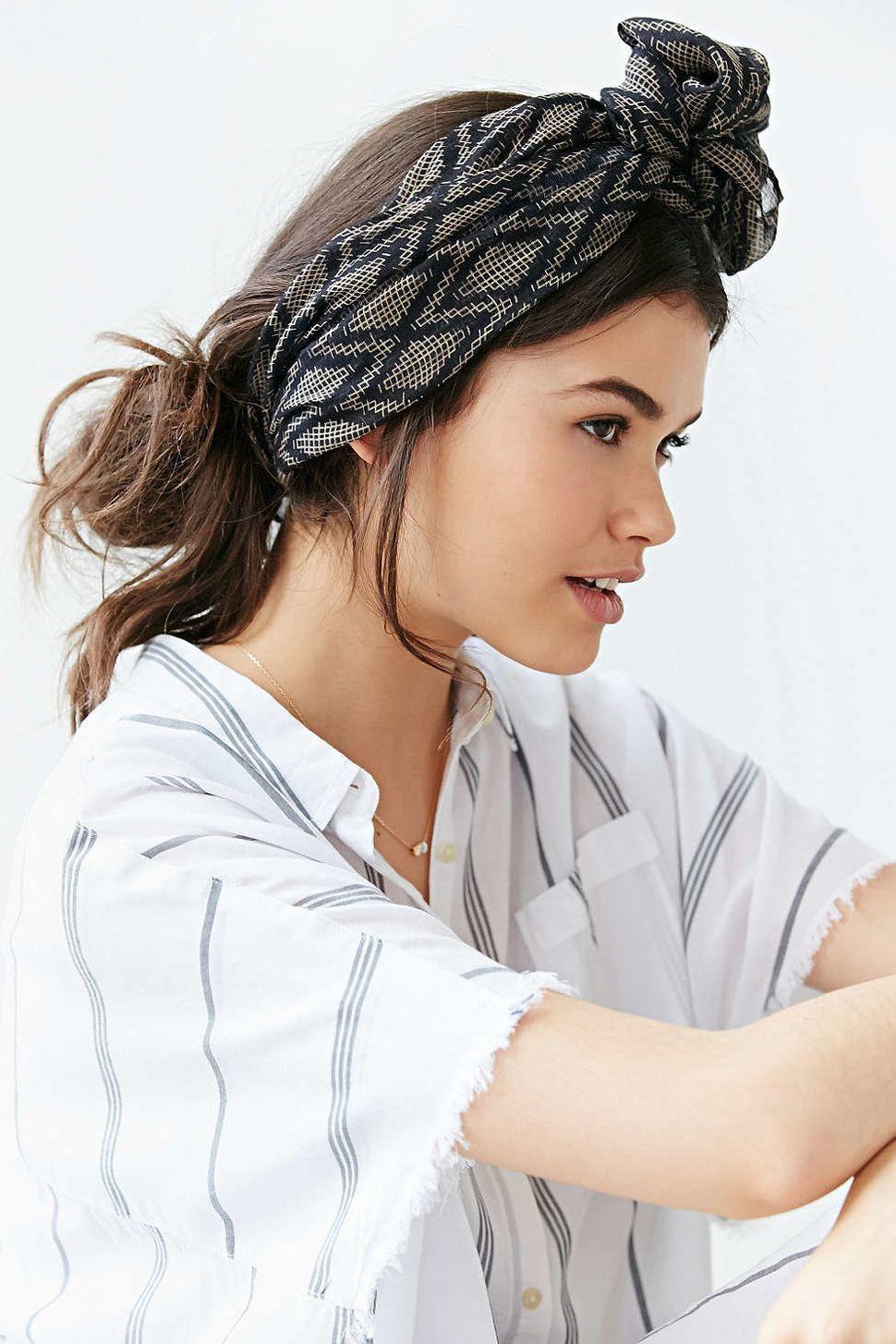 "Urban OutfittersSuki Headwrap, $24;<a href=""http://www.urbanoutfitters.com/urban/catalog/productdetail.jsp?id=352"