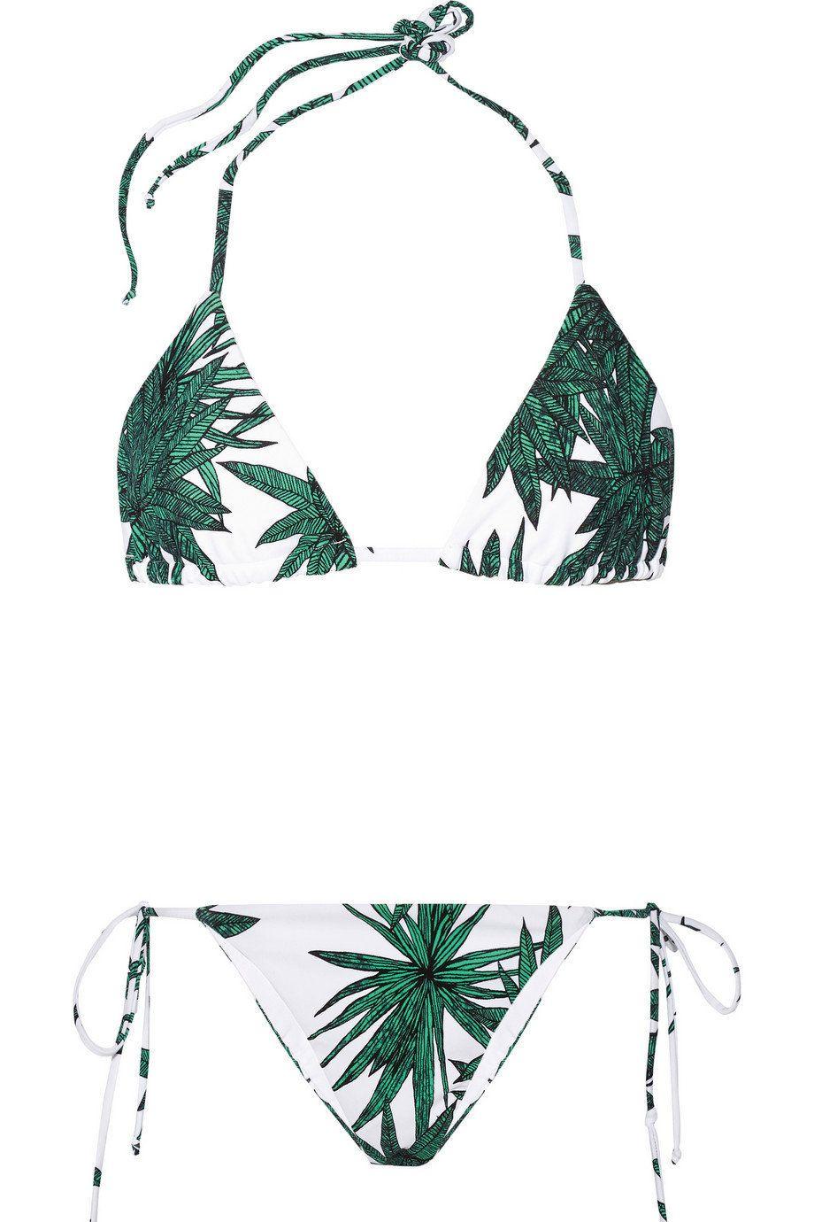 "Mara Hoffman Harvest Printed Triangle Bikini, $220;<a href=""http://www.net-a-porter.com/product/568413/Mara_Hoffman/har"