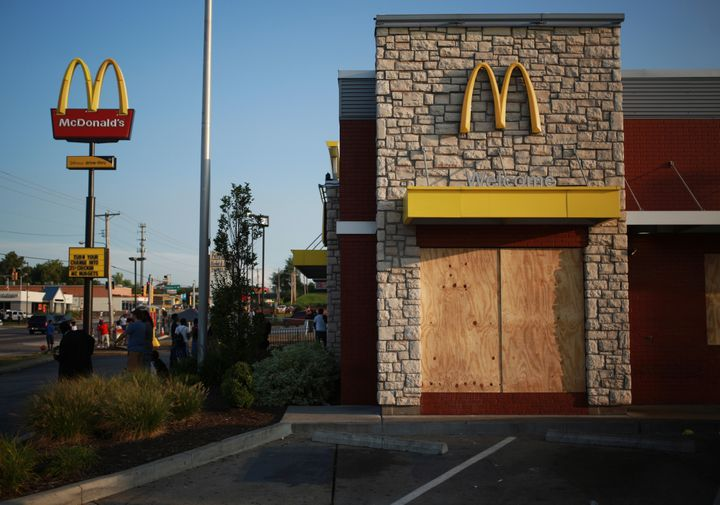 Two reporters were arrested at a McDonald's restaurant in Ferguson, Missouri, last year.