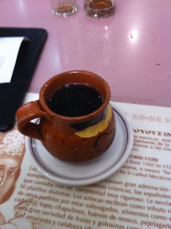 """Translated in English to """"pot coffee,"""" cafe de olla is a <a href=""""http://www.foodnetwork.com/recipes/marcela-valladolid/cafe-"""