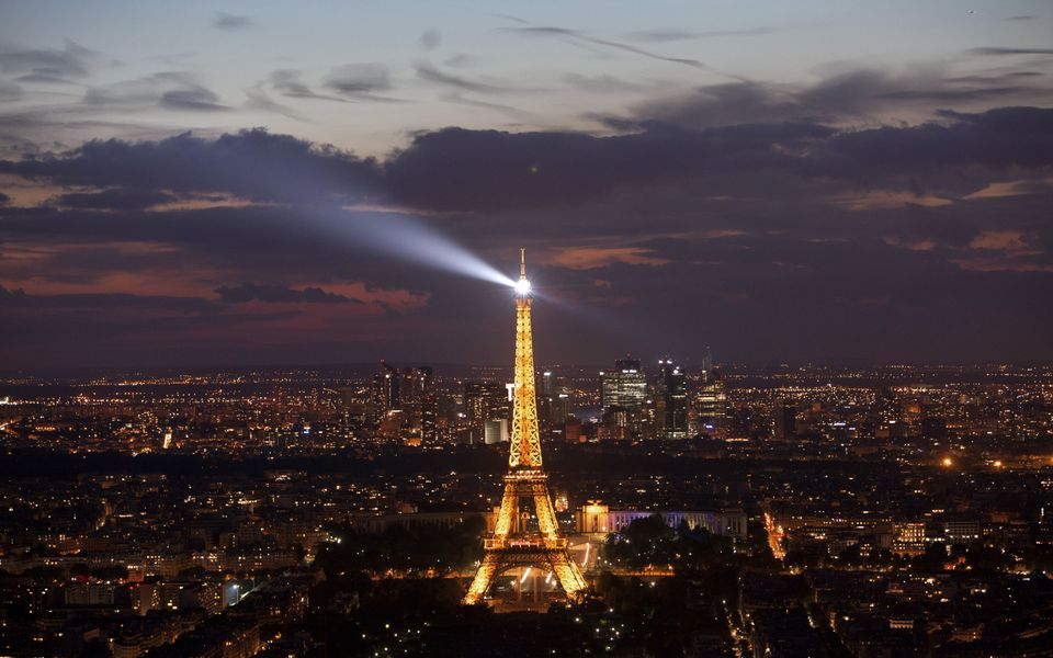 A general view shows the Eiffel Tower at night on July 14, 2012 in Paris. LOIC VENANCE/AFP/GettyImages