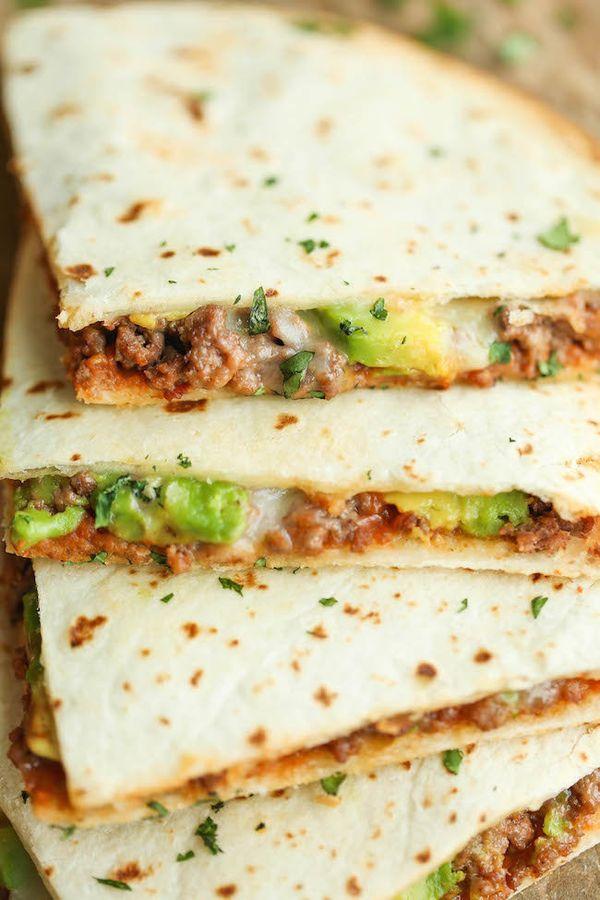 "<strong>Get the <a href=""http://damndelicious.net/2015/02/07/cheesy-avocado-quesadillas/"" target=""_blank"">Cheesy Avocado Ques"