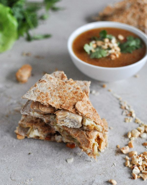 """<strong>Get the <a href=""""http://www.howsweeteats.com/2012/12/thai-chicken-quesadillas/"""" target=""""_blank"""">Thai Chicken Quesadil"""