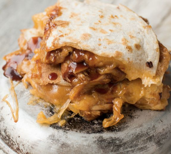 """<strong>Get the <a href=""""http://www.ohsweetbasil.com/teriyaki-chicken-quesadilla.html"""" target=""""_blank"""">Teriyaki Chicken Quesa"""