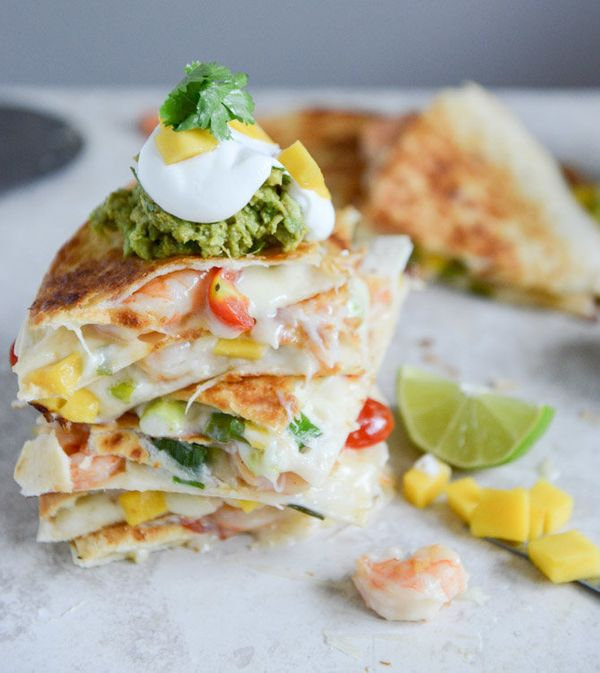 """<strong>Get the <a href=""""http://www.howsweeteats.com/2013/07/chipotle-beer-shrimp-quesadillas-with-spicy-guac/"""" target=""""_blan"""