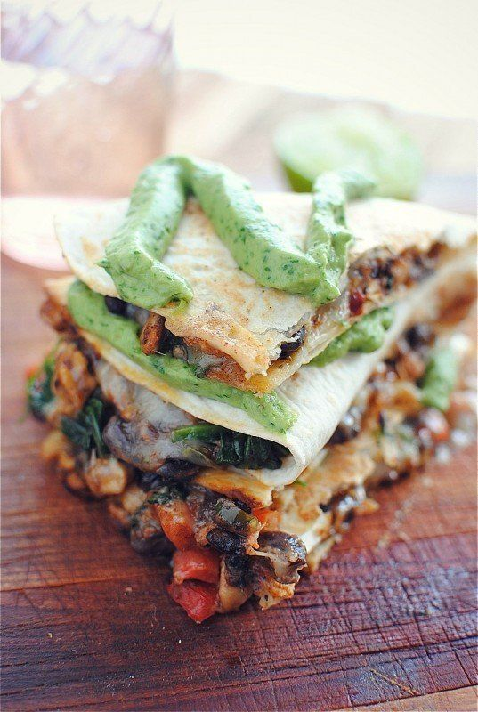 """<strong>Get the <a href=""""http://bevcooks.com/2012/06/tempeh-and-black-bean-quesadillas/"""" target=""""_blank"""">Black Bean and Tempe"""