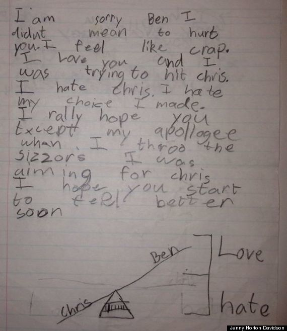 "<strong>Author</strong>: Zachary  <strong>Age</strong>: 8  <a href=""http://www.huffingtonpost.com/2014/01/15/cute-kid-note-of"