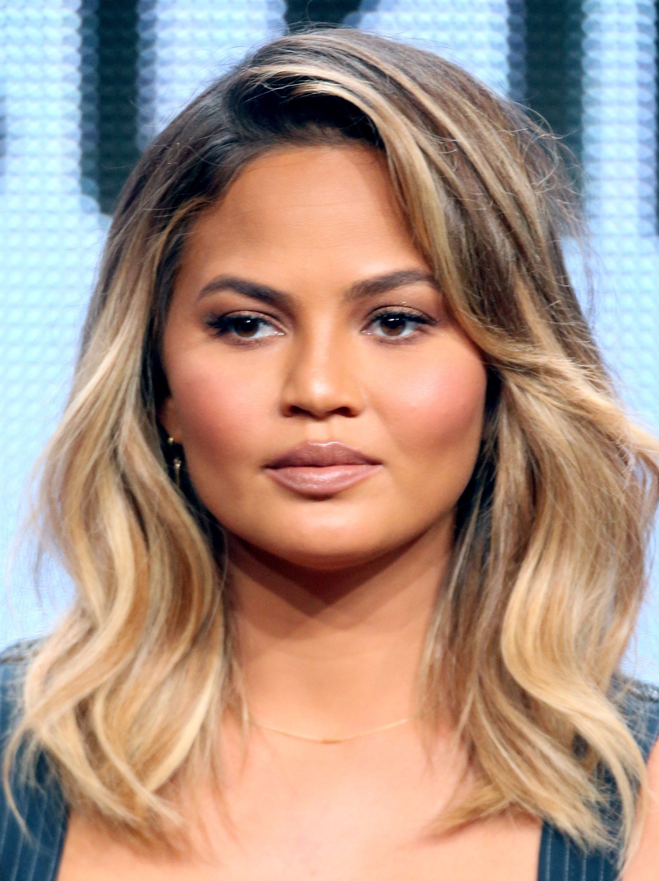 BEVERLY HILLS, CA - AUGUST 04:  Model Chrissy Teigen speaks onstage during the 'The FAB Life' panel discussion at the ABC Entertainment portion of the 2015 Summer TCA Tour at The Beverly Hilton Hotel on August 4, 2015 in Beverly Hills, California.  (Photo by Frederick M. Brown/Getty Images)