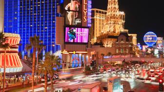 Traffic on the Vegas Strip