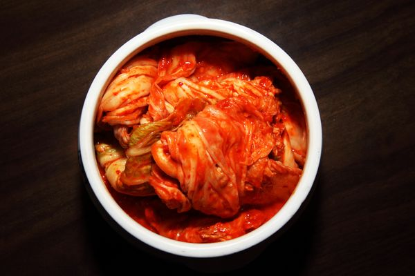 "A recent study found that the probiotics in fermented foods like kimchi, sauerkraut and yogurt <a href=""http://www.huffington"