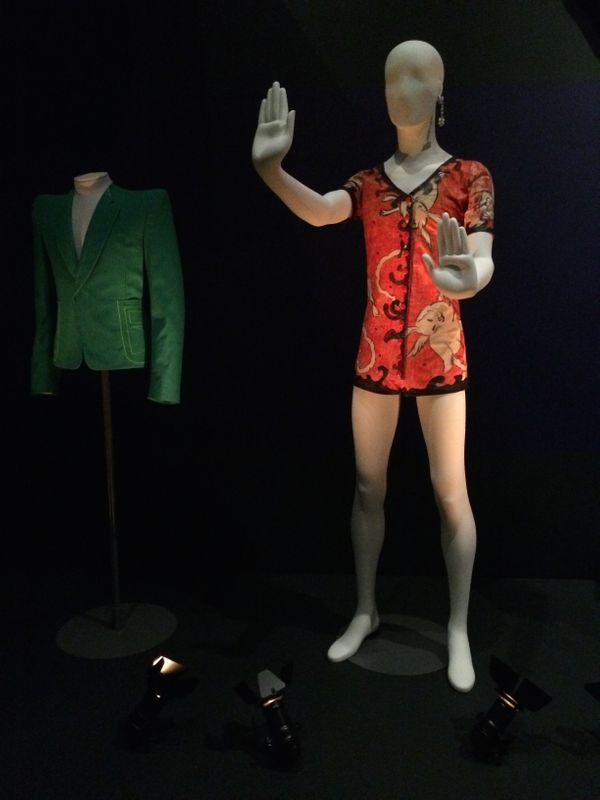 "Bowie wore his famous leotard-style ""Woodland Creatures"" garment for a show at London's Rainbow Theatre in 1972."