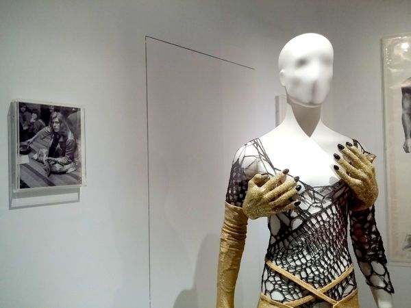 A cobweb costume designed by Natasha Korniloff that Bowie wore for a television appearance in 1973. The show's producers repo