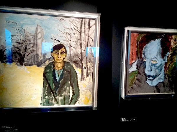 Bowie created these paintings after he moved to West Berlin in the late '70s.