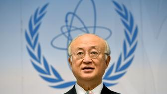 Yukiya Amano, director general of the International Atomic Energy Agency (IAEA), speaks to journalists during his press conference of the IAEA Board of Governors Meeting at IAEA headquarters in Vienna, Austria on June 8, 2015. AFP PHOTO / JOE KLAMAR        (Photo credit should read JOE KLAMAR/AFP/Getty Images)