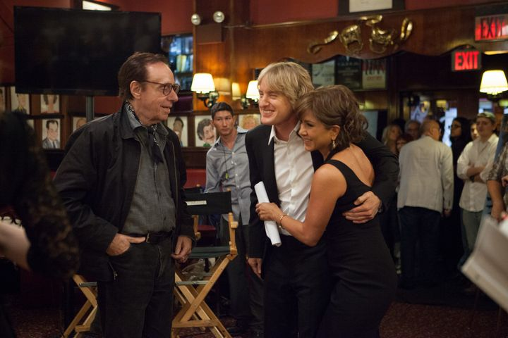 """<span>Peter Bogdanovich directs Owen Wilson and Jennifer Aniston in a scene from """"She's Funny That Way.""""</span>"""