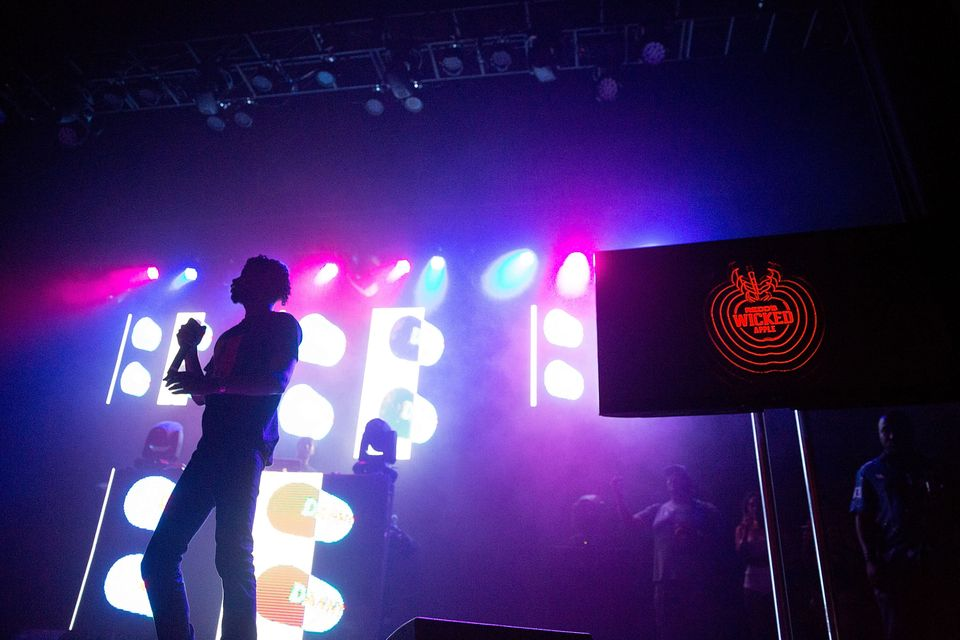 CHICAGO, IL- JUNE 4: Danny Brown performs at Redd's Wicked Apple's 'The Most Wicked Party' event in Chicago, the second in a