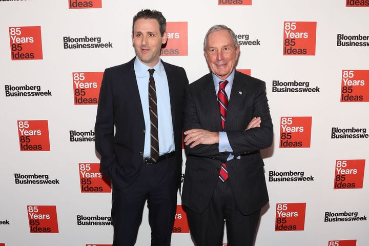 Bloomberg Media Chief Content Officer Josh Tyrangiel and founder Michael Bloomberg attend the Bloomberg Businessweek 85th