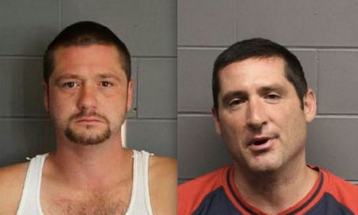 """Steve Leader (left) and Scott Leader (right) said they attackeda Hispanic homeless man because """"illegals need to be dep"""
