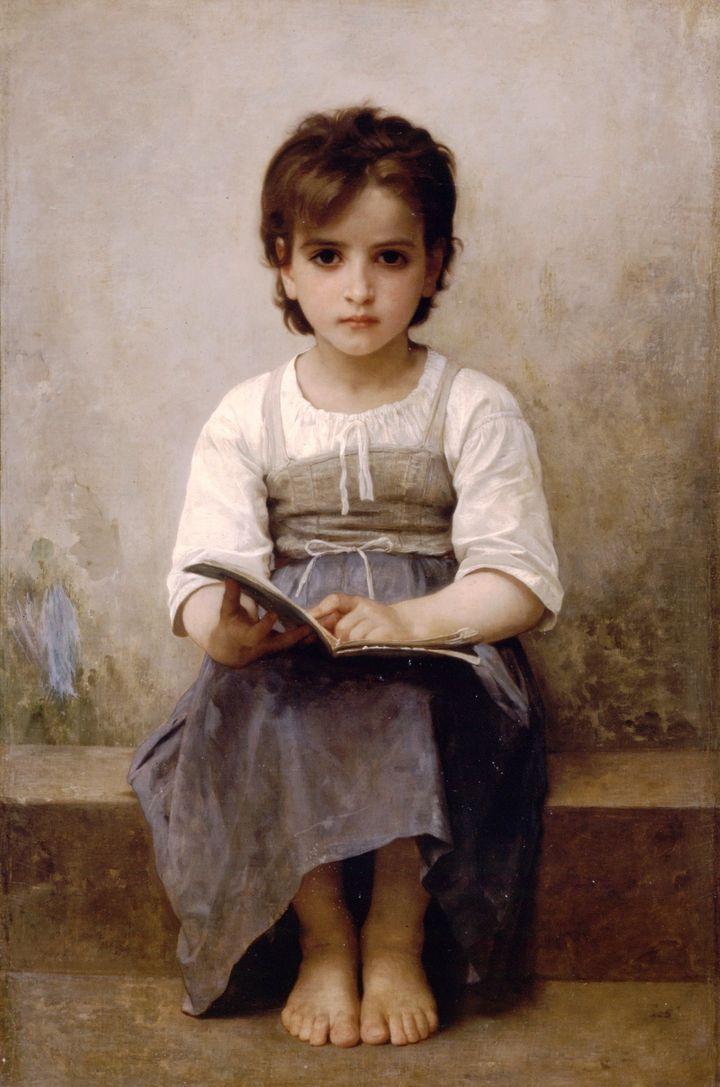 """William-Adolphe Bouguereau's """"La leçon difficule (The Difficult Lesson),"""" 1884"""