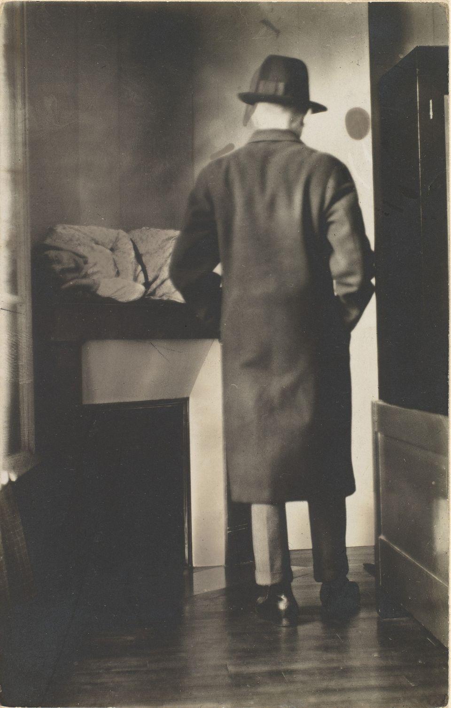Rene Magritte (Belgian 1898- 1967) La Mort des Fantames, 1928, Gelatin silver print, 13.9 x 8.8 cm. (5 1/2 x 3 7/16 in.)