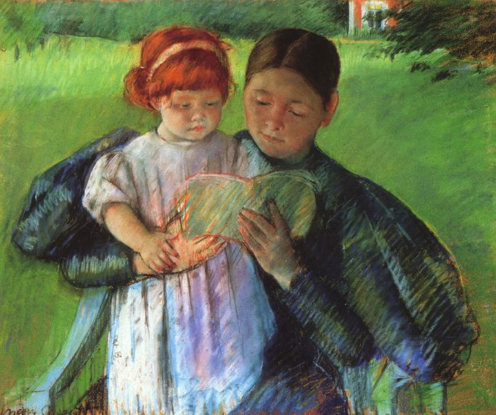 """Mary Cassatt, """"Nurse Reading to a Little Girl, """"1895"""