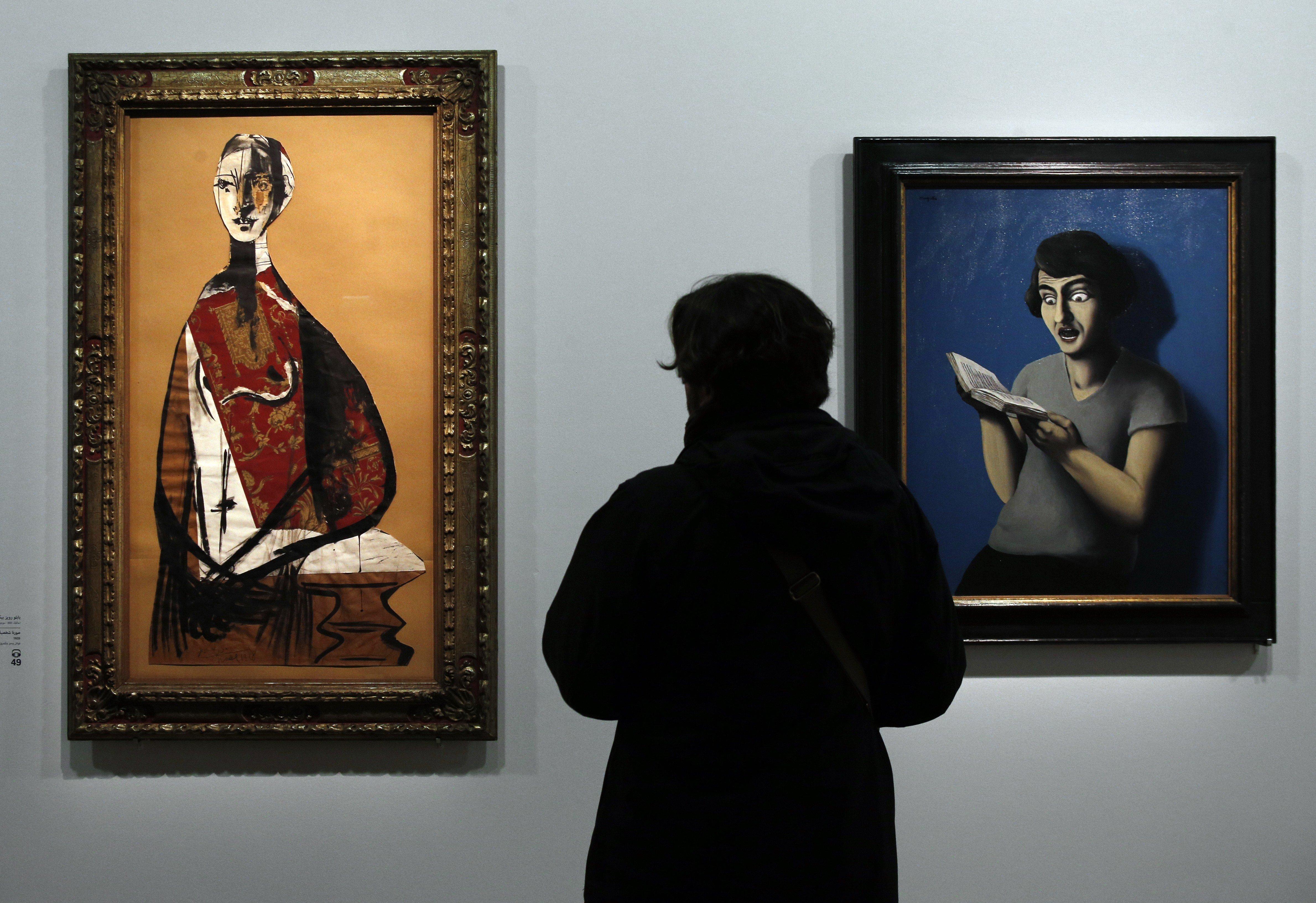 "<p>Rene Magritte, ""The Subjugated Reader,"" 1928</p>"