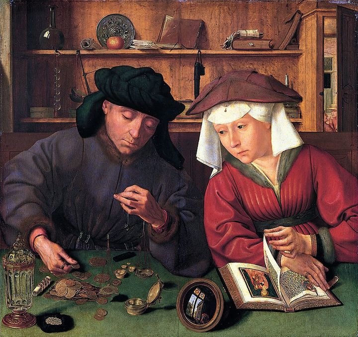 "Quentin Matsys, ""The Moneylender and his Wife,"" 1514"