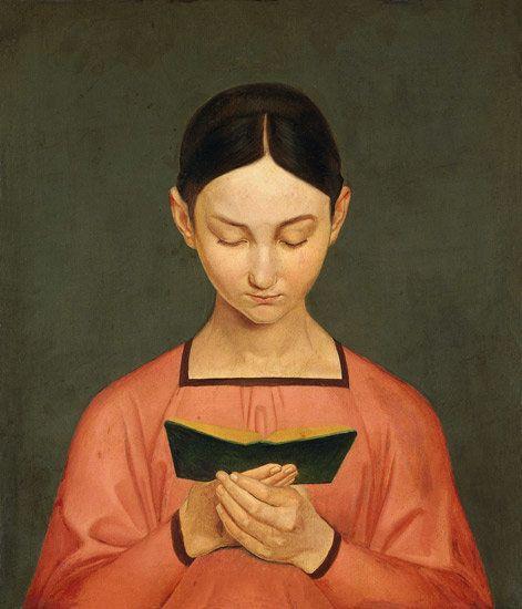 """Gustav Hennig, """"Lesendes Mädchen,"""" 1828"""