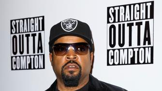 LONDON, ENGLAND - AUGUST 20:  Ice Cube attends a special screening of Straight Outta Compton on August 20, 2015 at the Picturehouse Central in London, England.  (Photo by Tristan Fewings/Getty Images)