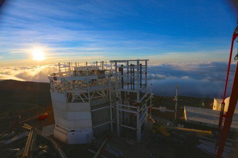 """<p><span style=""""font-family: Arial, Helvetica, sans-serif; font-size: 14px; line-height: 20px; background-color: #eeeeee;"""">The sun rises over the DKIST site the morning of December 3, 2014.</span></p>"""