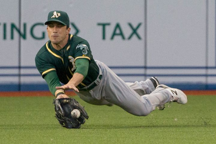 Fuld has played quality defense for the A's -- his fourth MLB team in eight years -- despite his struggles at the plate.