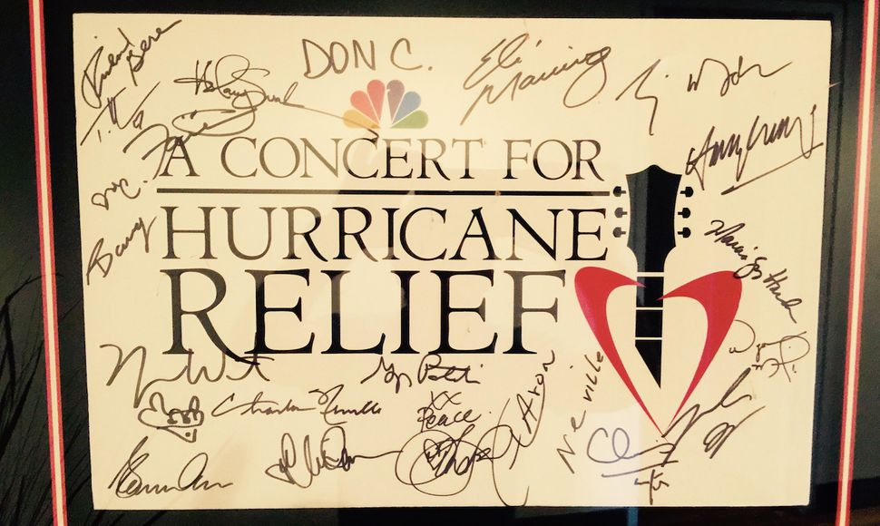 A signed version of the telethon's key art.