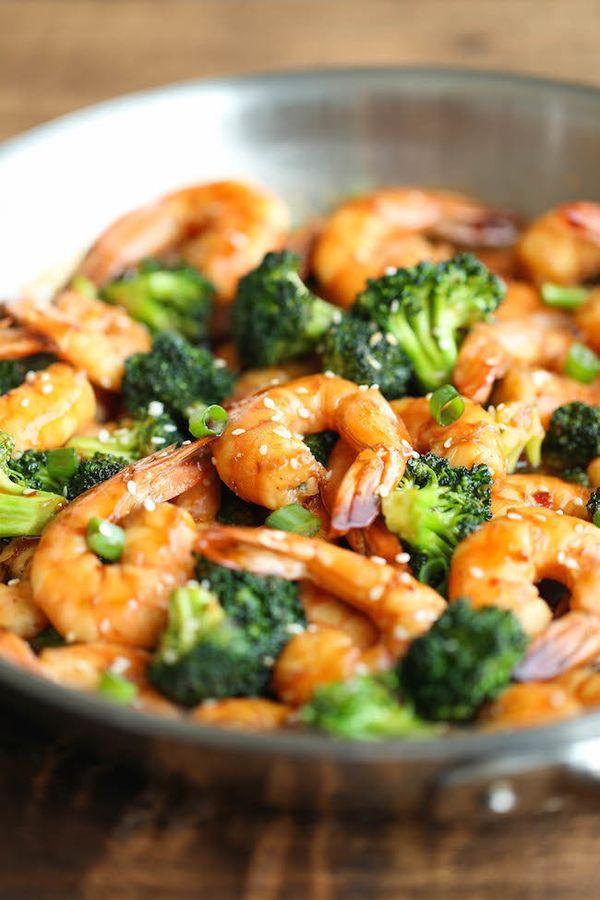 "<strong>Get the <a href=""http://damndelicious.net/2015/01/16/easy-shrimp-broccoli-stir-fry/"" target=""_blank"">Easy Shrimp and"