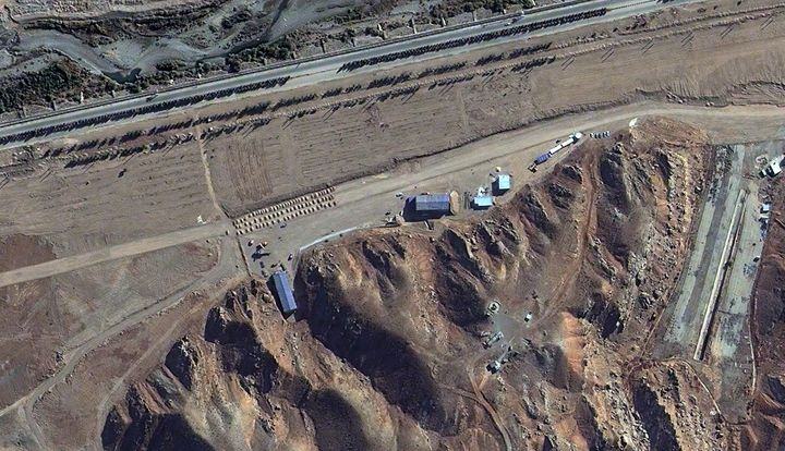 A 2012 satellite image of Parchin, an Iranian military complex and suspected site of past nuclear weapons activity.