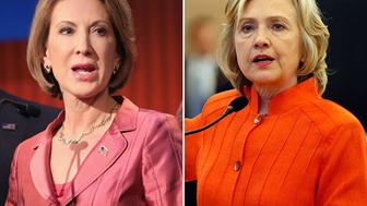 <p>Republican Carly Fiorina and Democrat Hillary Clinton are both seeking their respective party nominations for president in 2016.</p>