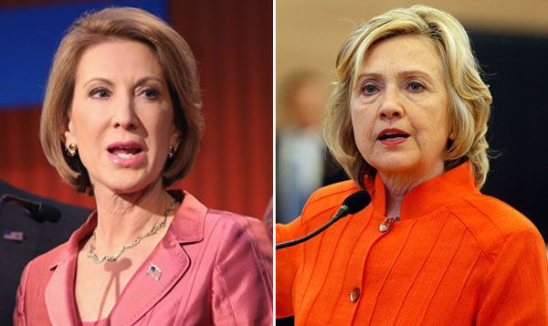 Republican Carly Fiorina and Democrat Hillary Clinton are both seeking their respective party nominations for president in 20