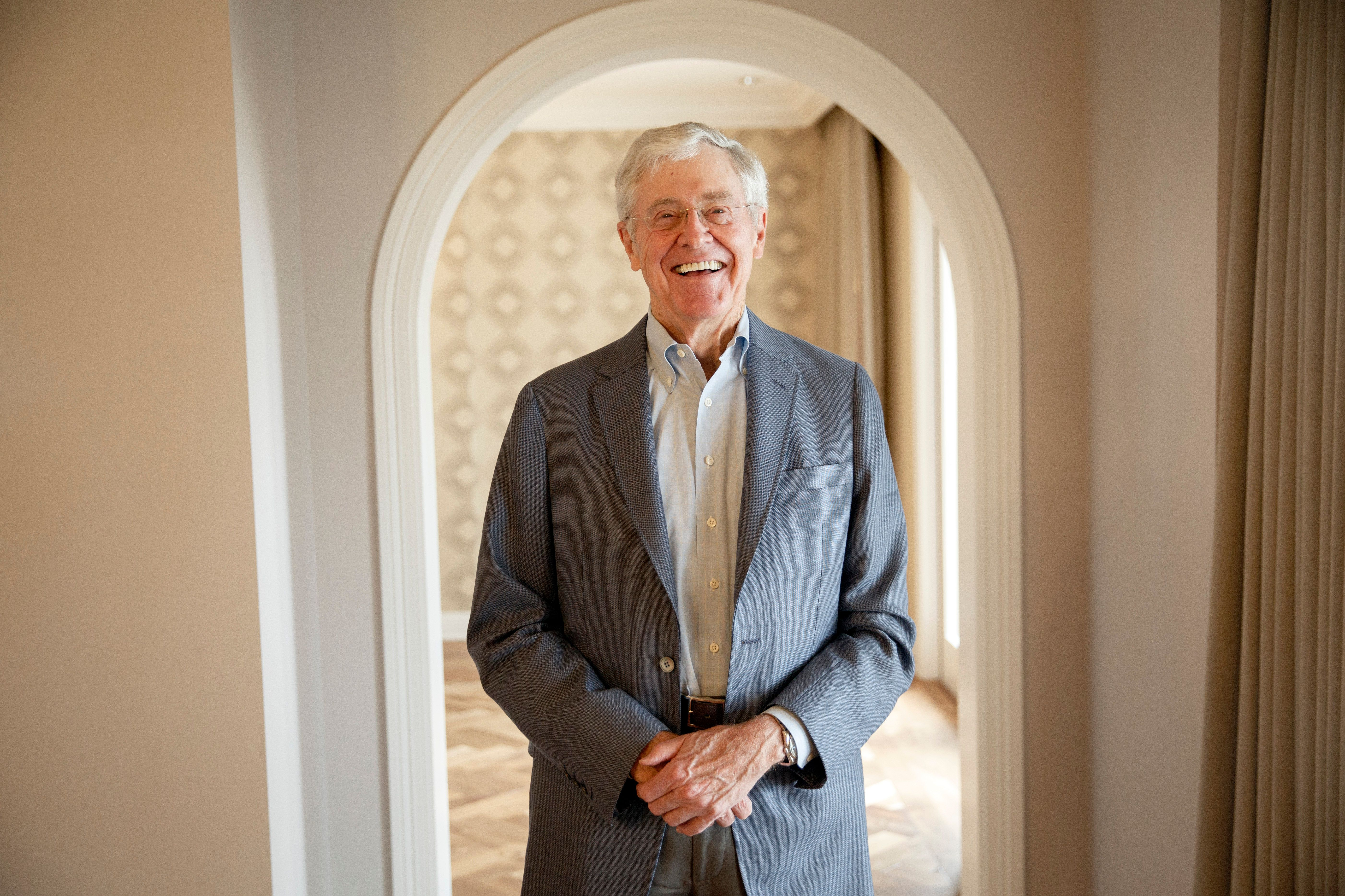 Dana Point, CA - August 3: Charles Koch stands for a portrait after an interview with the Washington Post at the Freedom Partners Summit on Monday, August 3, 2015 in Dana Point, CA. (Photo by Patrick T. Fallon for The Washington Post via Getty Images)