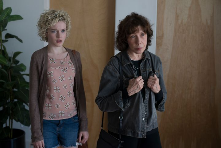 "Julia Garner and Lily Tomlin star in ""Grandma."""