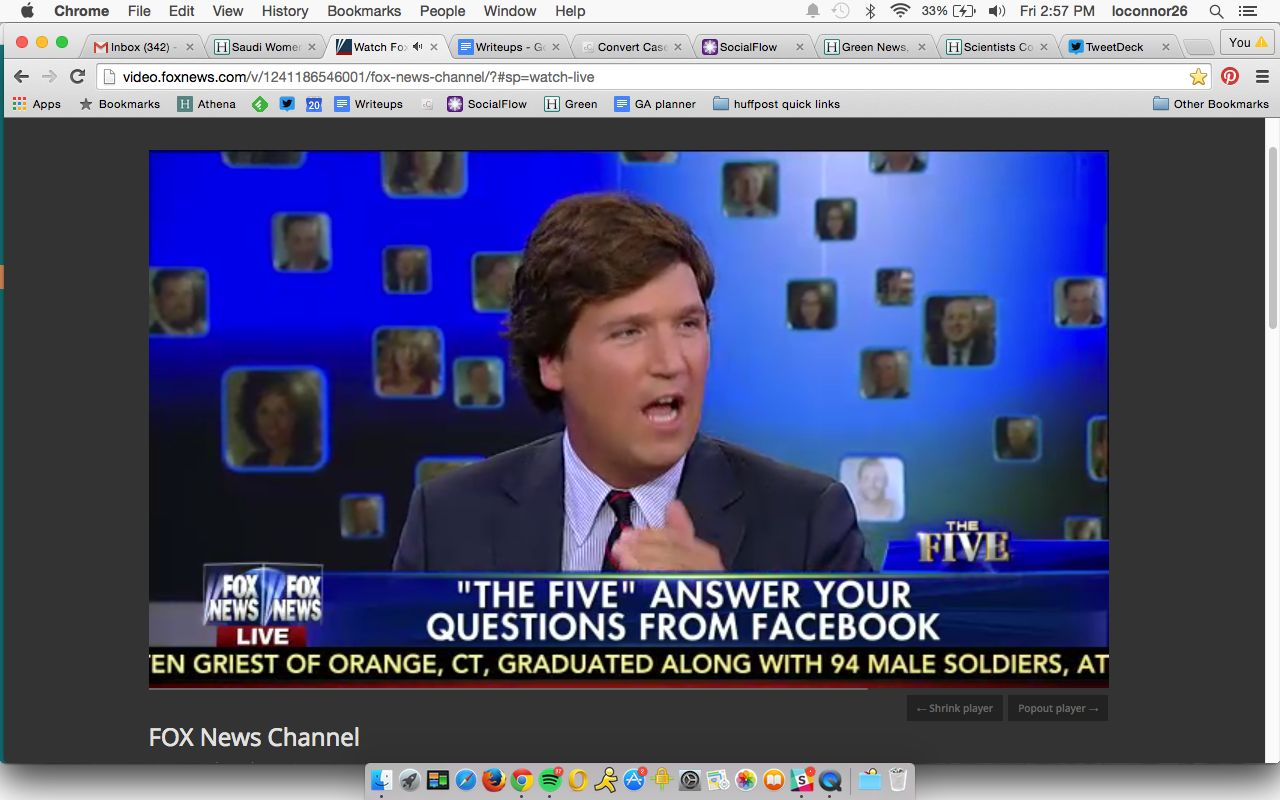 """<p>Tucker Carlson, """"The Five"""" guest host and founder and editor-in-chief of The Daily Caller, says he loves the term """"illegal alien"""" and that it's one of his """"favorite terms.""""</p>"""