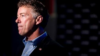UNITED STATES - AUGUST 7: Presidential candidate Sen. Rand Paul, R-Ky., speaks with the media at the Pints for Liberty event at Rat River Brewery in Columbia, S.C., on Friday, Aug. 7, 2015. (Photo By Bill Clark/CQ Roll Call)
